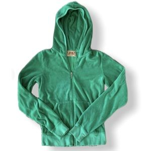 Juicy Couture Emerald Green Zippered Hoodie